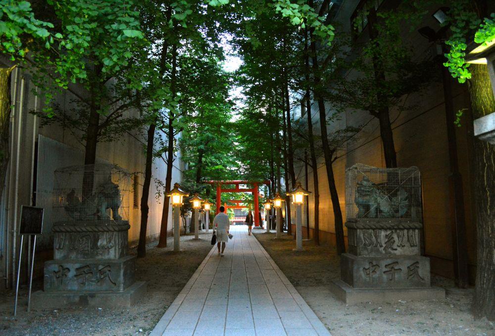 新宿花園神社鳥居