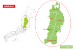 Japanese Encyclopedia Tōhoku Region MATCHA JAPAN TRAVEL WEB - Japan map by region