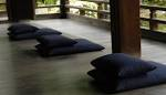 Japanese Encyclopedia Zabuton Floor Cushion Matcha