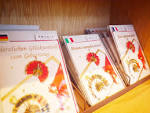 Beautiful cards made with japanese paper nakazawa in asakusa furthermore this store sells greeting cards in various languages we were wondering if visitors from abroad would buy those it turns out that these cards kristyandbryce Images