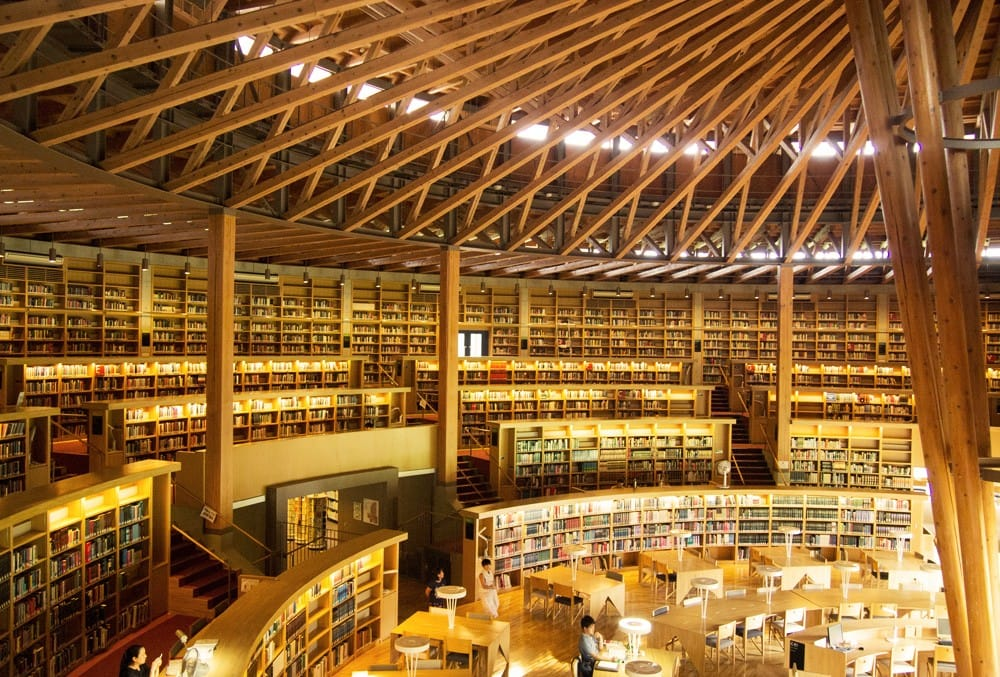 Nakajima Library in Akita - One of the Most Beautiful Libraries in Japan