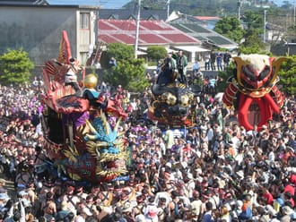 Dragons invade Saga for the Traditional Karatsu Kunchi Festival!