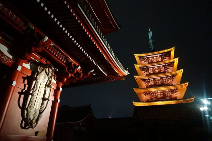 The Five-Storied Pagoda of Sensoji