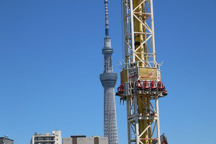 Hanayashiki Amusement Park, Top 8 Attractions