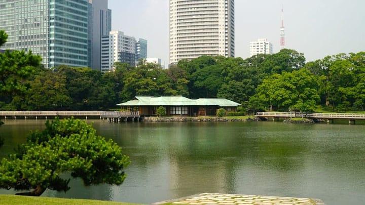 Visit Hama-rikyu Gardens and Tsukishima