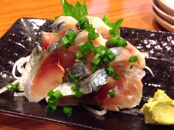 Delicious Pickled Mackerel and Sake at