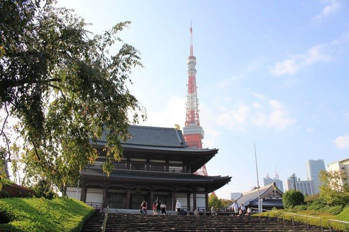 절과 도쿄타워를 배경으로 기념 촬영! 미나토구 시바「조죠지(増上寺)」