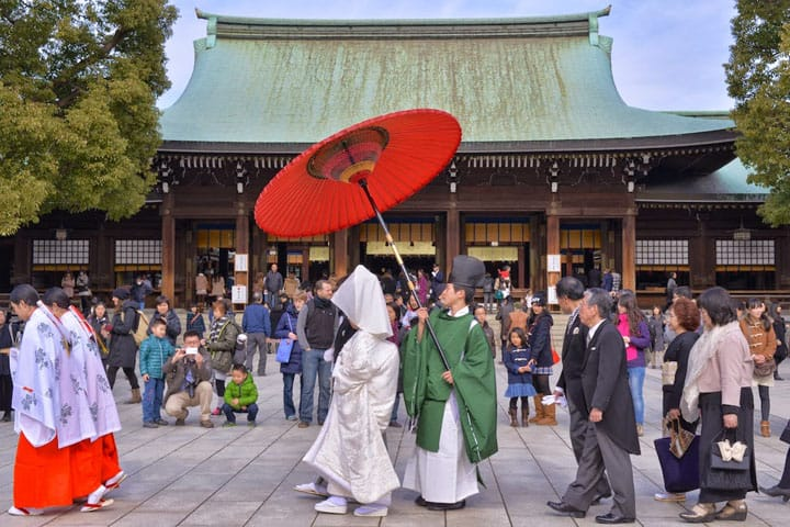 Meiji Shrine, Japan's best known shrine. The most visited shrine for Hatsumode!