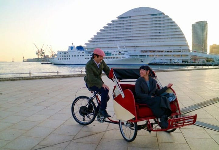 Dash Through The Streets Of Kobe With The Cyclo Taxi!