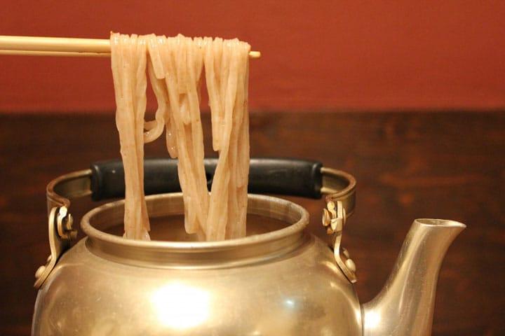 Eat Udon Noodles From A Kettle? Zubora Udon At Hakata Akachokobe