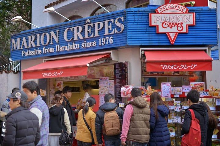 """原宿的人氣點心:""""Marion Crepes""""!享受一下原宿的氣氛吧!"""