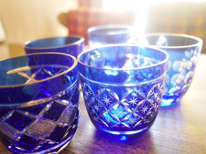 Coffee In Edo Kiriko Glass Cups - A Delight For The Senses