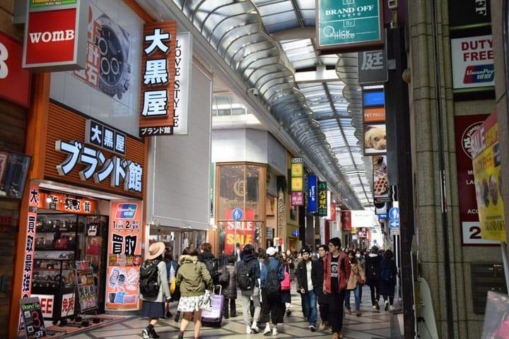 11 địa điểm mua sắm ở Osaka như Namba, Shinsaibashi