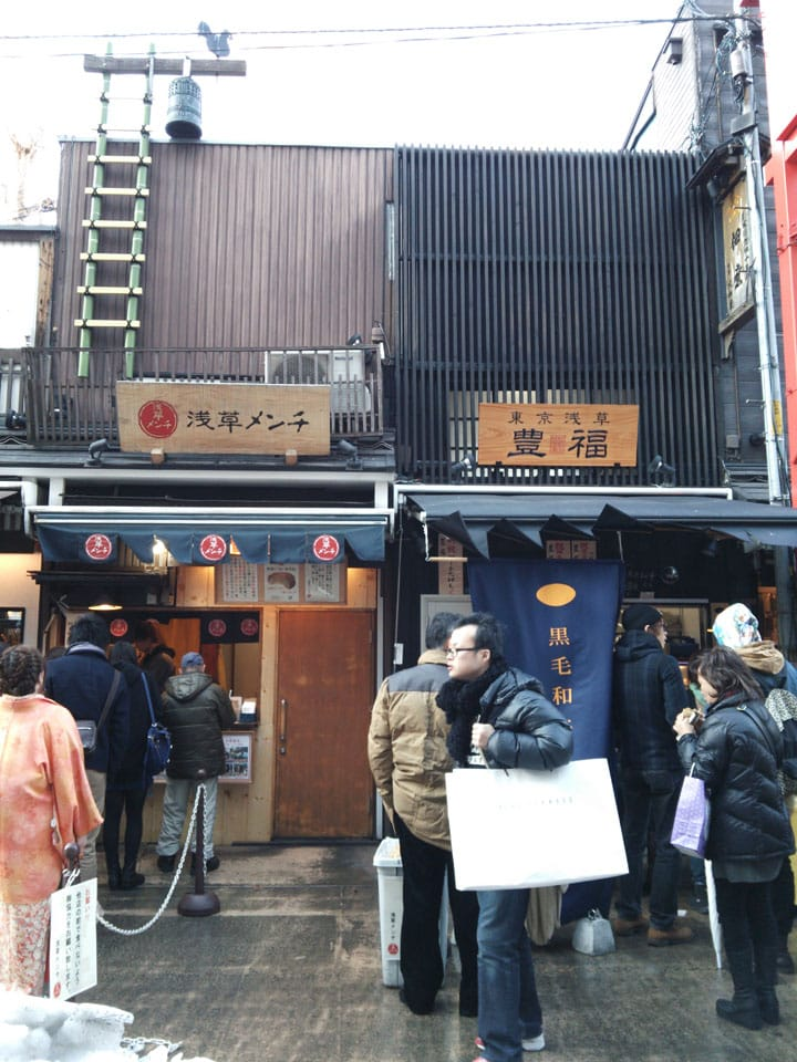 Food in Asakusa: Hot Snacks for Everyone