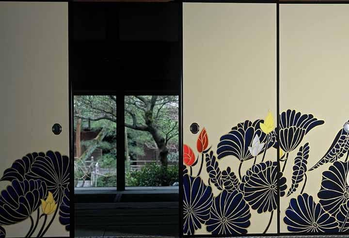Modern Painting on a Sliding Screen by Ki-Yan Stuzio