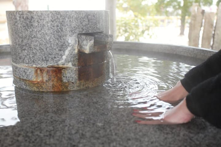 Footbath and Handbath at Wakura Onsen