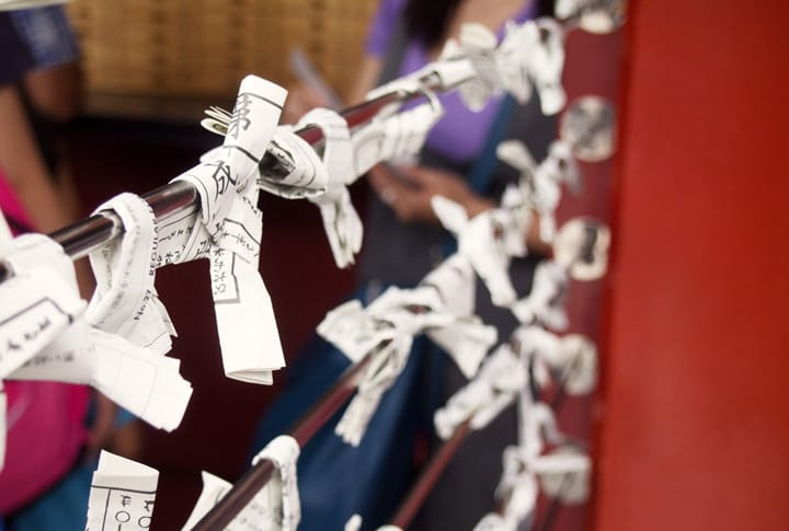 Try An Omikuji Paper Fortune At Sensoji In Asakusa!