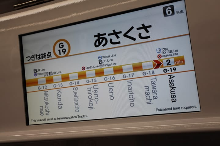 【淺草.交通】告別迷路!從上野到淺草的交通方式整理(電車、地下鐵篇)