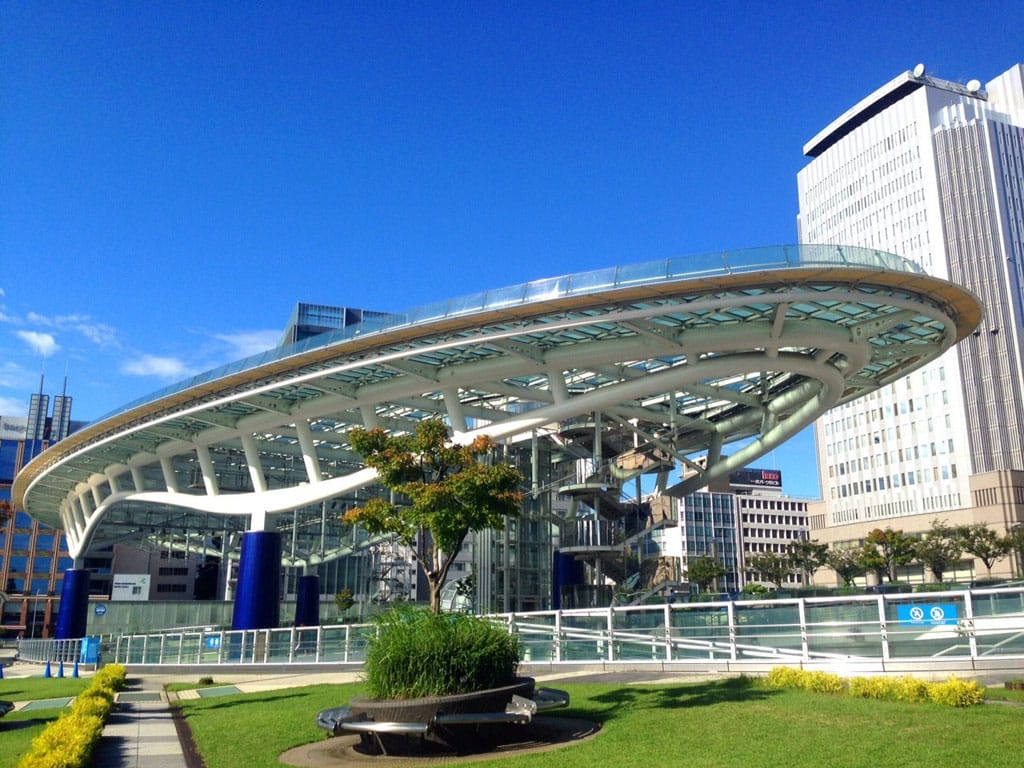 High In The Nagoya Sky Oasis 21 The Glass Plaza