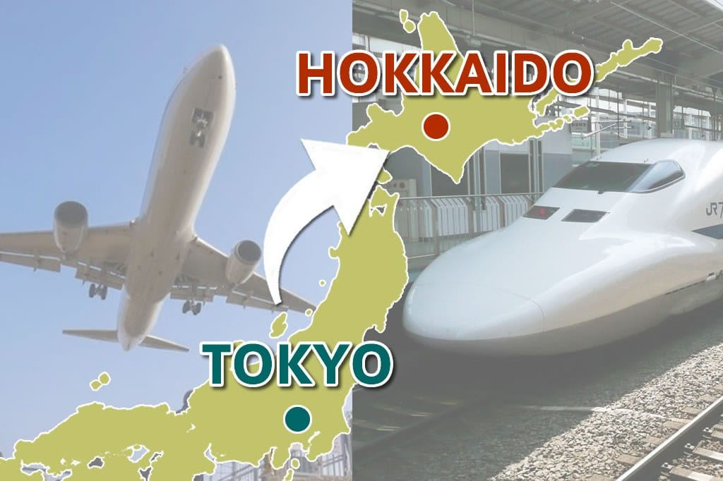 So sánh thời gian và mức phí các cách di chuyển từ Tokyo đến Hokkaido