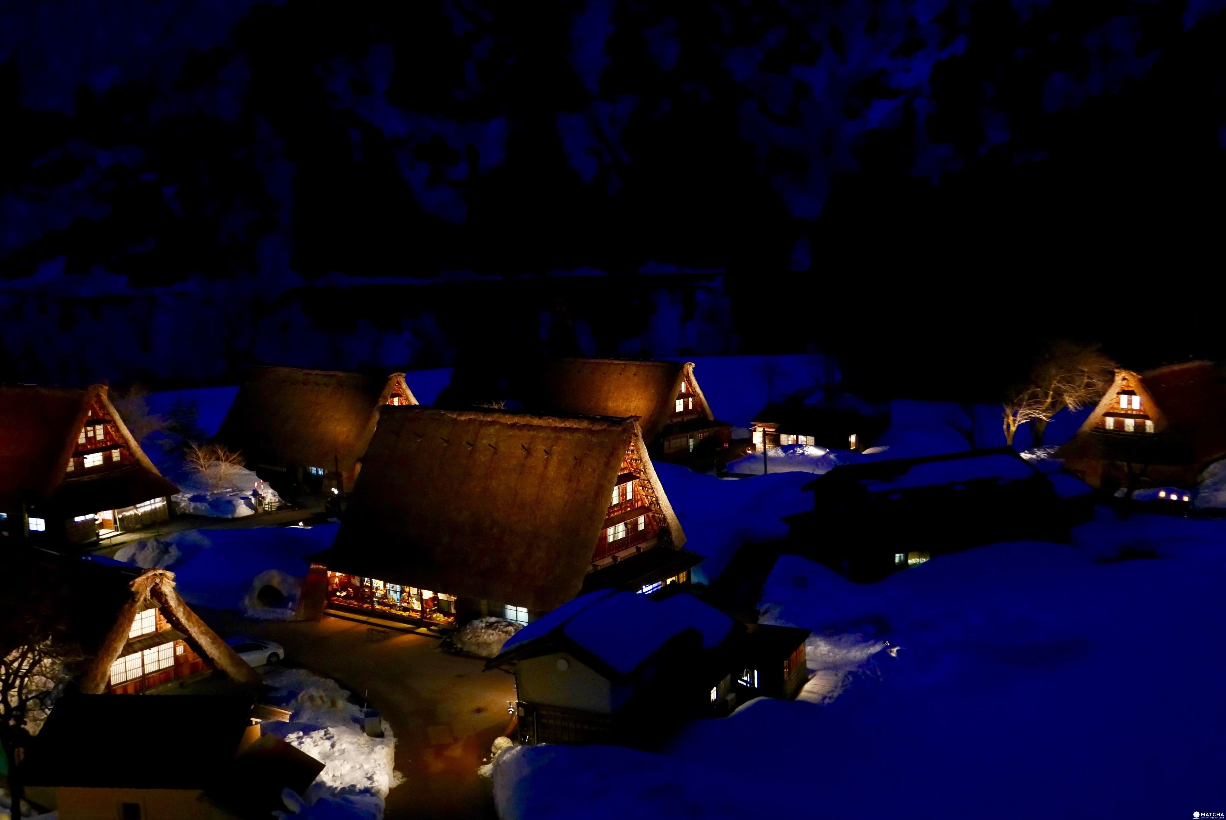『富山縣 南砺市』被世界遺忘的美景角落:四季更迭合掌屋點燈美景