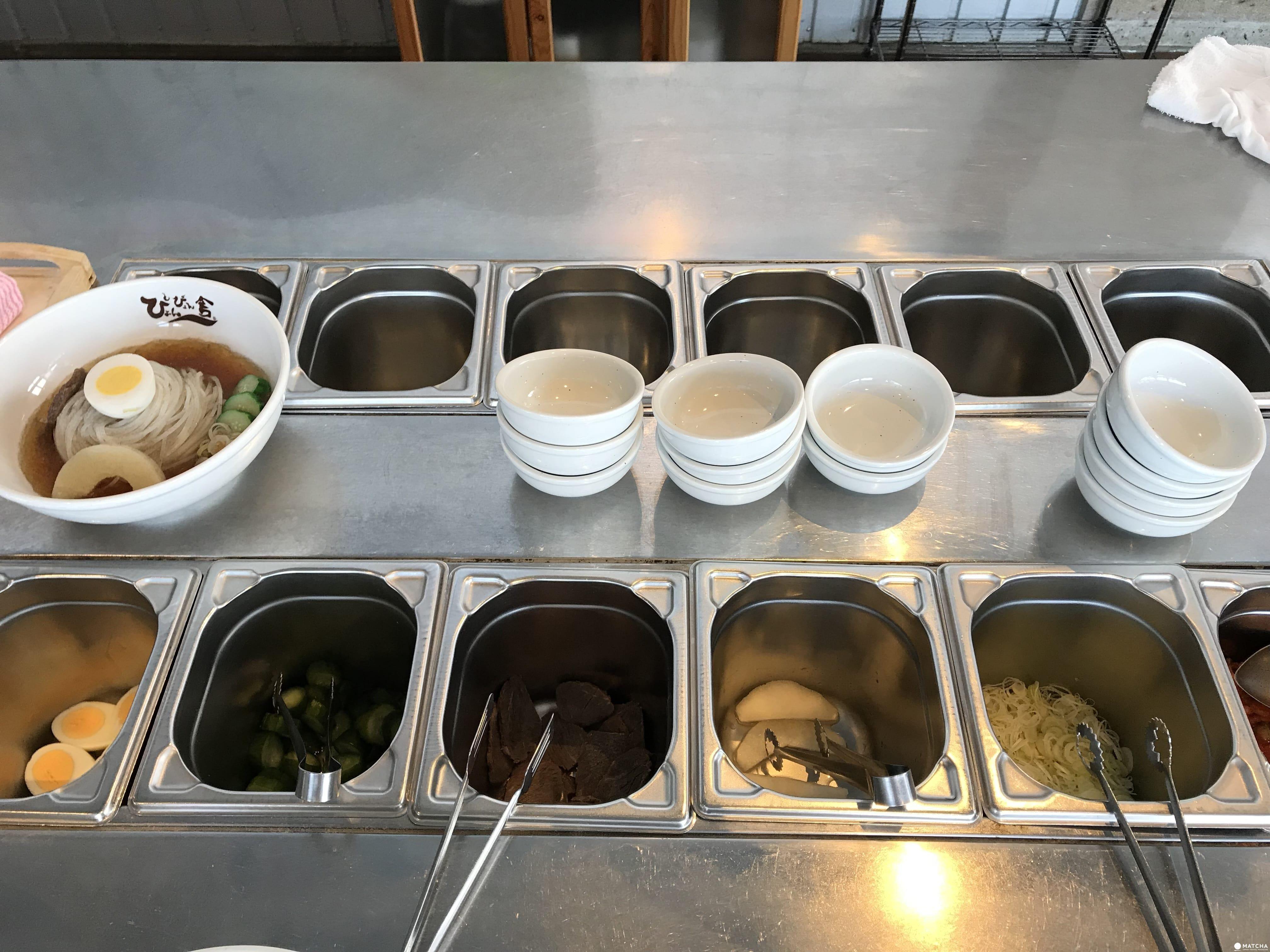 盛岡手工藝村製作冷麵的食材