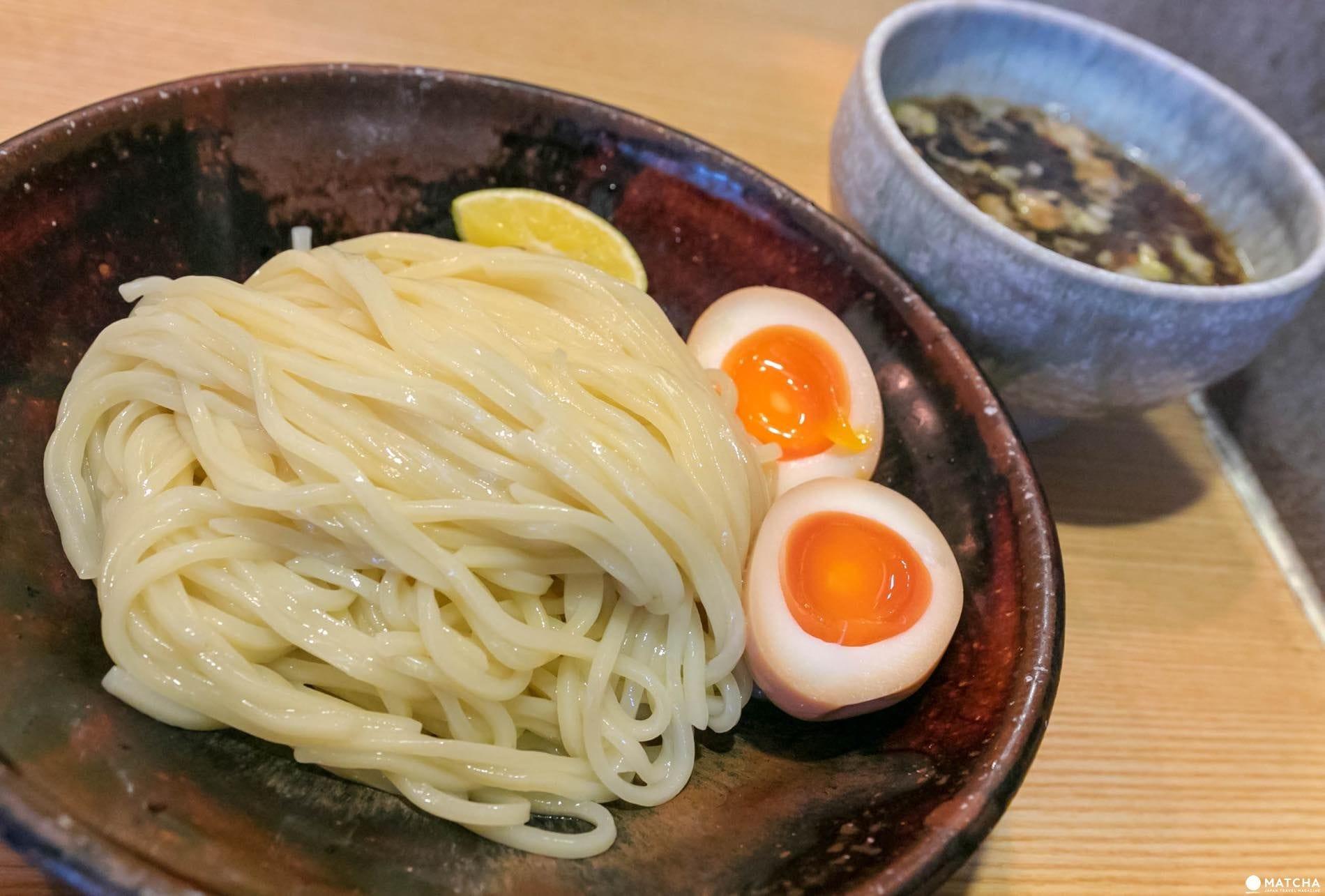 山崎麺二郎の味玉つけめん