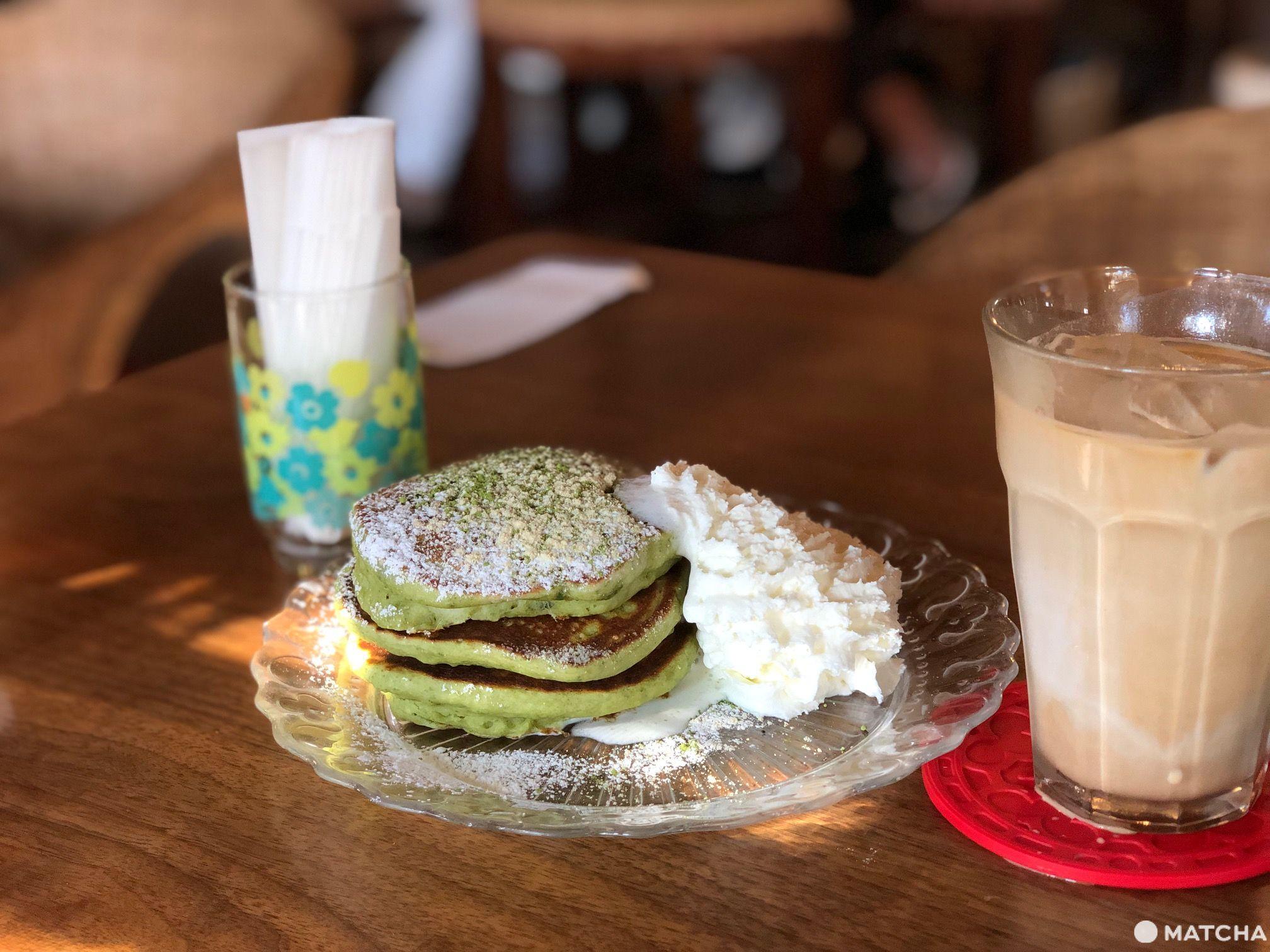 カフェ 坂の下 抹茶鬆餅