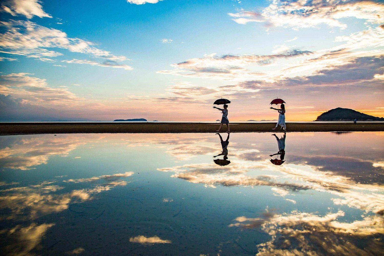 【香川】日本最高の夕日スポット!瀬戸内海・父母ヶ浜の5つの楽しみ方