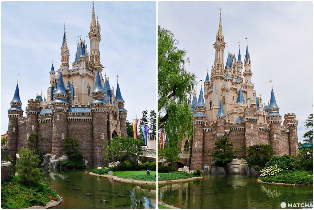 迪士尼城堡拍照角度