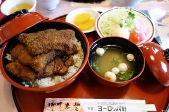 <div class='captionBox title'>【福井 敦賀】挑戰份量級吃到破肚,特調醬汁豬排飯ー歐洲軒 </div>