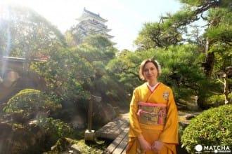 히로시마현 후쿠야마시 「후쿠쥬 회관(福寿会館)」에서 코토(琴) 연주&기모노 착의 체험!