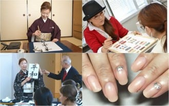 One Day Free Lessons In Japanese Calligraphy And Nail Art Matcha