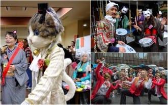 <div class='captionBox title'>The Kagurazaka Bakeneko Festival - Become A Cat And Join The Parade</div>
