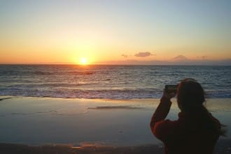 <div class='captionBox title'>Watch The Sunset From The Beach! A Rewarding Day Trip To Hayama</div>