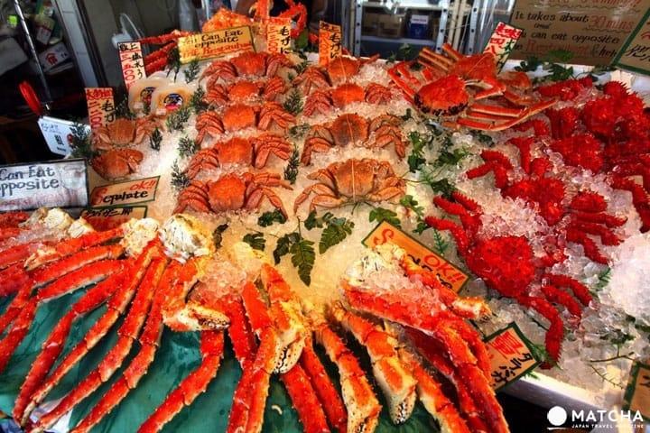 삿포로의 「니죠 시장」에는 홋카이도의 맛있는 식재료가 모인다!