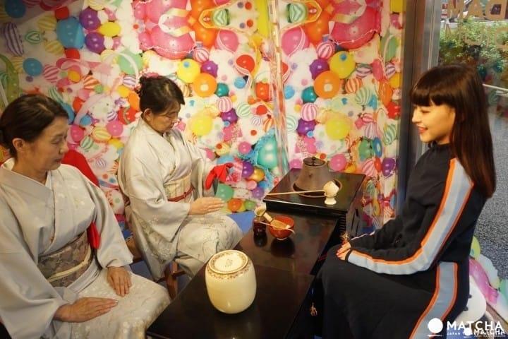 모델 스가누마 유리가 체험하는 말차 체험!! 하라주쿠 관광안내소 모시모시 BOX란