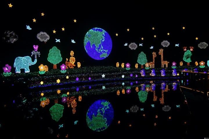 东京近郊冬季景点:全日本圣诞灯饰秀第一名足利花卉公园