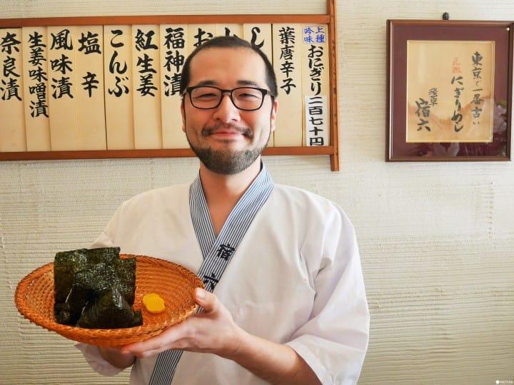 入選《2019東京米其林指南》!東京最古老的手作飯糰店 「淺草 宿六」
