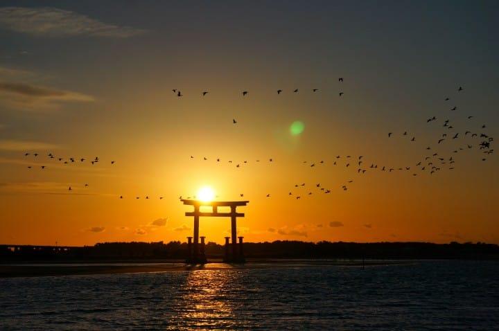 鳥居-弁天神社