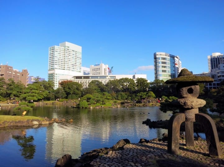 Taman Kyu Shidai Rikyu Matcha Situs Wisata Jepang