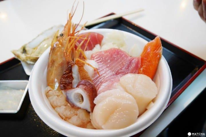 超新鮮自助生魚丼飯!體驗青森市獨有的「のっけ丼」