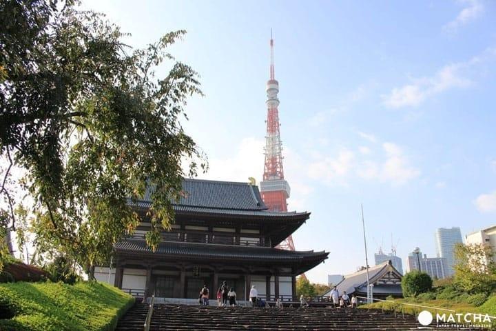 จุดถ่ายรูป Tokyo Tower พร้อมวัดอายุกว่า 600 ปี วัดโซโจจิ (Zojoji Temple)