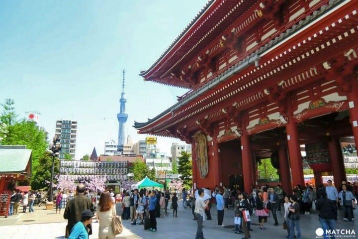 Lịch trình du lịch 1 ngày quanh Asakusa, Tokyo Sky Tree, Odaiba