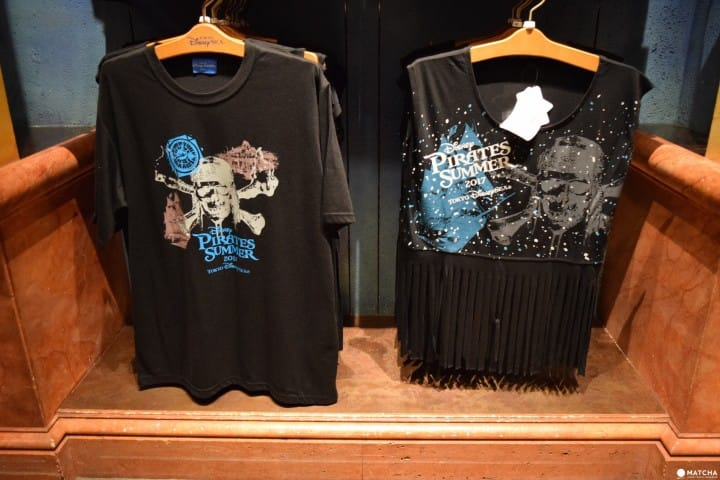 T-shirts (left, 1700 yen plus tax; right, 2500 yen plus tax)