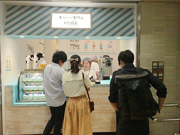 生奶油專門店 點餐區