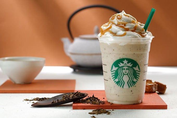 秋天來了,但是還是要喝星巴克「焙茶奶油星冰樂」!