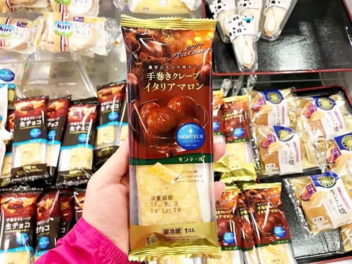 日本秋天超市便利商店 栗子可麗餅
