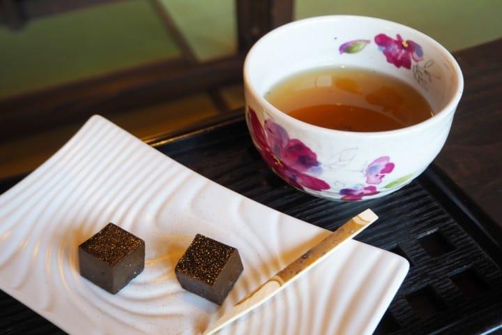 川越美食地圖 狹山茶咖啡 煎茶點心套餐