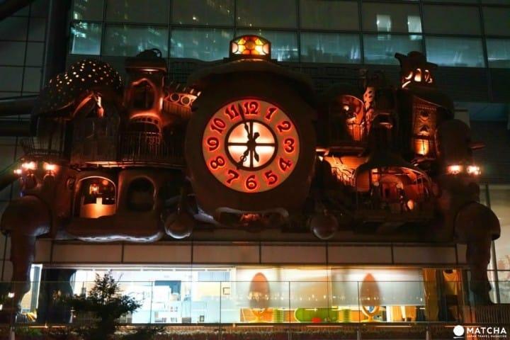The Ghibli Clock In Shiodome – Enjoy Hayao Miazaki's Art For Free!